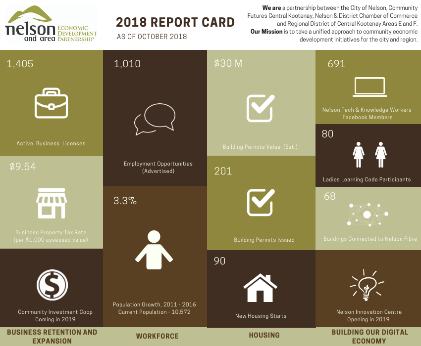 Nelson and Area Economic Development Partnership Report Card